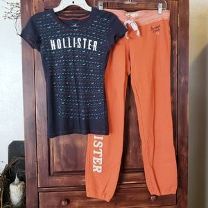 Hollister T-shirt & joggers outfit
